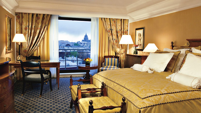 Deluxe Double Room at Ritz Carlton Hotel in Moscow, Russia