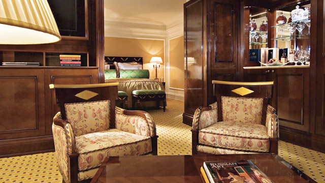 Executive Suite at Ritz Carlton Hotel in Moscow, Russia