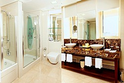 Gold Suite Bathroom at Aquamarine Hotel in Moscow, Russia