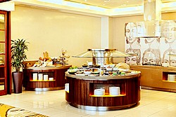 Breakfast at Aquamarine Hotel in Moscow, Russia