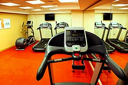 Gym at Aquamarine Hotel in Moscow, Russia