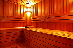 Sauna at Aquamarine Hotel in Moscow, Russia