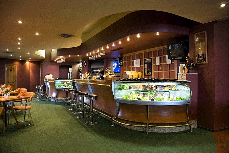 Terrasa Restaurant Bar At Cosmos Hotel In Moscow Russia
