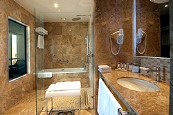 Club Ambassador Suite Bathroom at Crowne Plaza Moscow World Trade Centre Hotel in Moscow, Russia