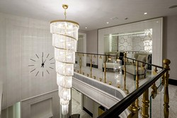 Presidential Suite chandelier at Crowne Plaza Moscow World Trade Centre Hotel in Moscow, Russia