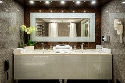 Presidential Suite Bathroom at Crowne Plaza Moscow World Trade Centre Hotel in Moscow, Russia