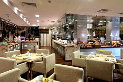 Buffet Breakfast at Crowne Plaza Moscow World Trade Centre Hotel in Moscow, Russia