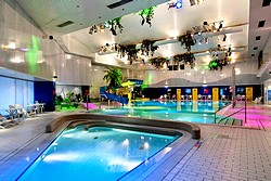 Pool at Atlantis Fitness Club at Crowne Plaza Moscow World Trade Centre Hotel in Moscow, Russia