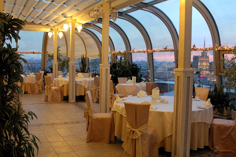 The Winter Garden Restaurant At Moscow 39 S Golden Ring Hotel
