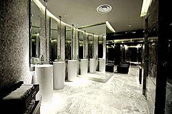 Toilet at Lotte Hotel in Moscow, Russia