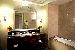 Luxury Room Bath at Lotte Hotel in Moscow, Russia