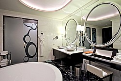 Atrium Suite Black and White at Lotte Hotel in Moscow, Russia