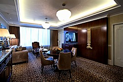 Charlotte Suite Living Room at Lotte Hotel in Moscow, Russia