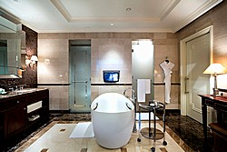 Executive Suite Bathroom at Lotte Hotel in Moscow, Russia