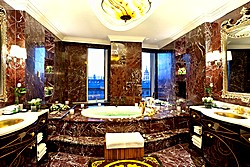 Presidential Suite Bathroom at Lotte Hotel in Moscow, Russia