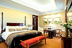 Presidential Suite Bedroom at Lotte Hotel in Moscow, Russia