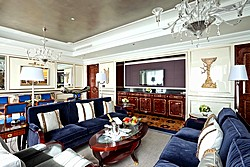 Presidential Suite Living Room at Lotte Hotel in Moscow, Russia