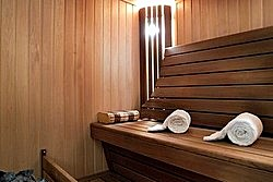 Royal Suite Sauna at Lotte Hotel in Moscow, Russia