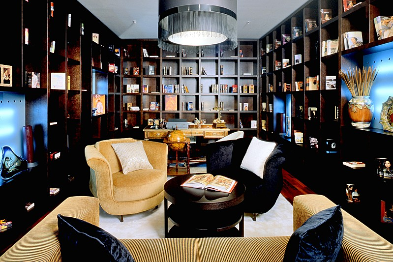 Library at Presidential Suite at the Mamaison Pokrovka All-Suites Hotel in Moscow