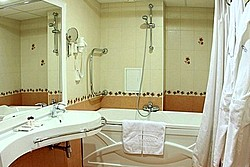 Bath at Junior Suite at The Maxima Slavia Hotel, Moscow