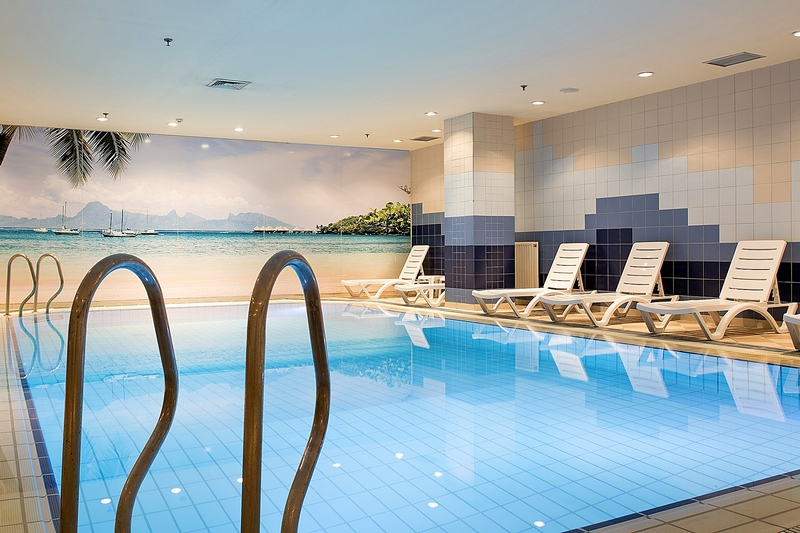 Swimming Pool At Novotel Moscow Sheremetyevo Airport Hotel In Russia
