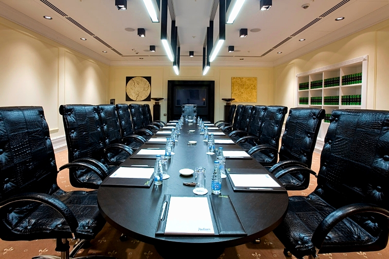 Winter Meeting Room at the luxury Radisson Royal Hotel in Moscow