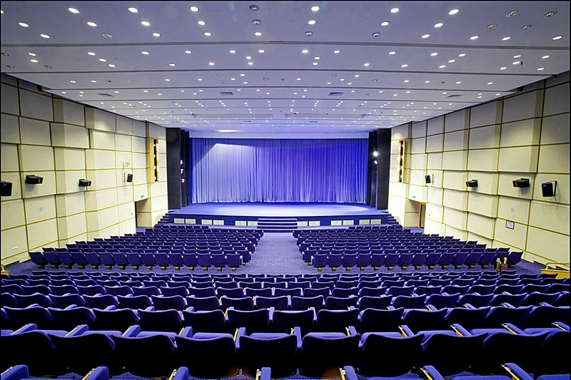 Conference Hall Fixed Seat Theatre At The Radisson Slavyanskaya Hotel In Moscow