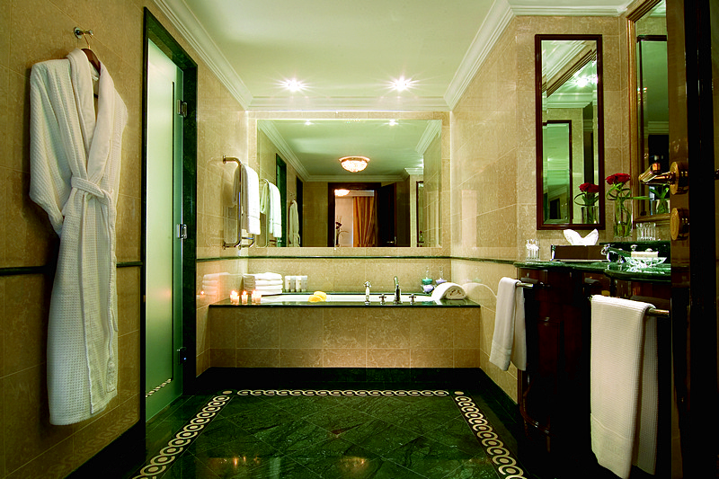 Superior Room Bathroom at Ritz-Carlton Hotel in Moscow, Russia