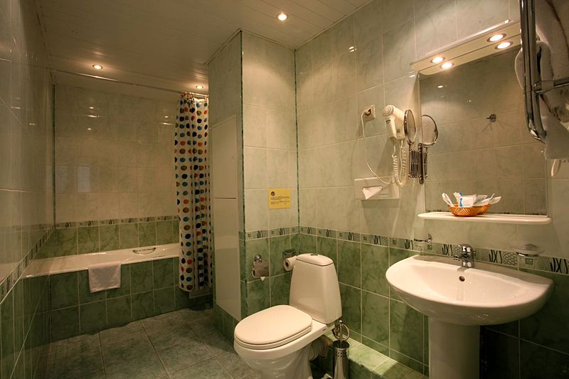Bathroom at Business Suite (Comfort Apartment) at Volga Apart-Hotel in Moscow, Russia