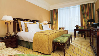 Club Level Double Room at Ritz Carlton Hotel in Moscow, Russia