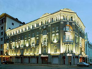 The savoy hotel is located round the corner from the bolshoi theater